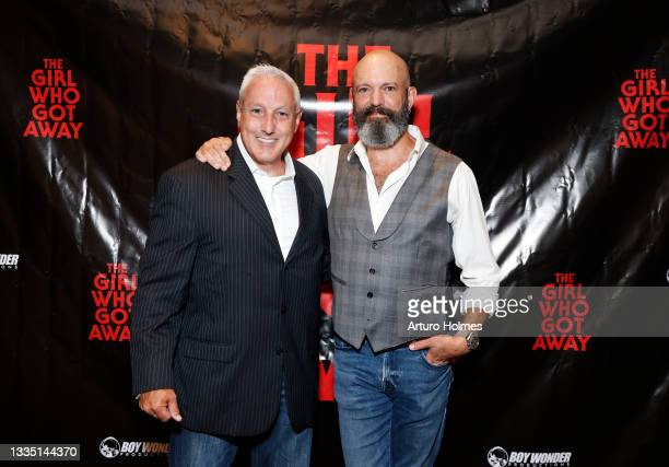 John Scaccia and Geoffrey Cantor attend The Girl Who Got Away Film Premiere at AMC Theater on August 19, 2021 in New York City.
