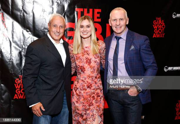 John Scaccia, Lexi Johnson, and Michael Morrissey attend The Girl Who Got Away Film Premiere at AMC Theater on August 19, 2021 in New York City.