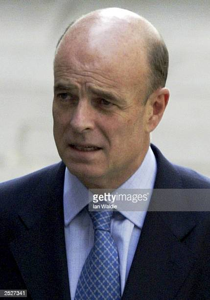 John Scarlett Chairman of the Joint Intelligence Committee and author of the September intelligence dossier arrives at the high court to be cross...