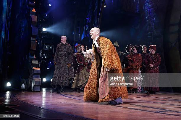 John Schiappa attends the curtain call at Wicked Celebrates 10th Anniversary On Broadway at Gershwin Theatre on October 30 2013 in New York City
