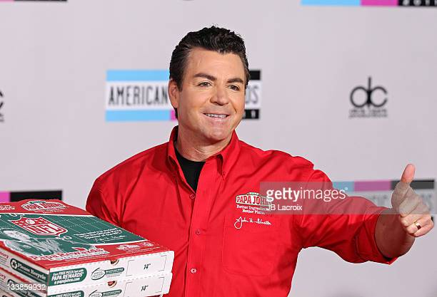 John Schnatter arrives at the 2011 American Music Awards held at Nokia Theatre LA LIVE on November 20 2011 in Los Angeles California
