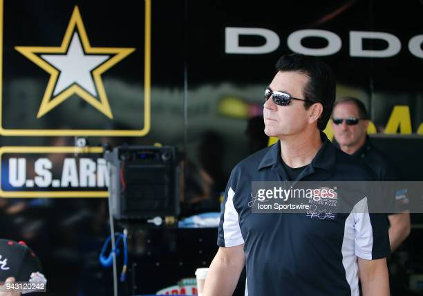 John Schnatter Founder and Chairman of the Board for Papa John's Pizza looks on during the the 19th Annual DENSO Spark Plugs NHRA FourWide Nationals...