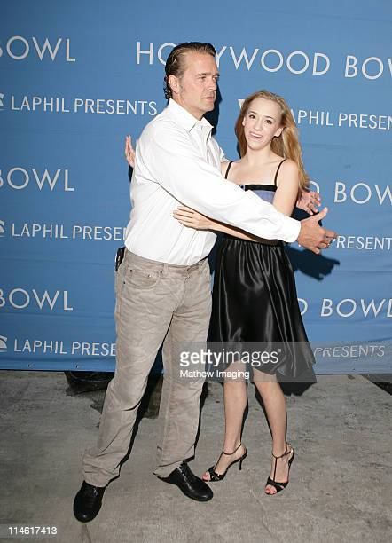 John Schneider and Andrea Bowen during 'The Sound of Music' at the Hollywood Bowl July 29 2006 at Hollywood Bowl in Los Angeles California United...
