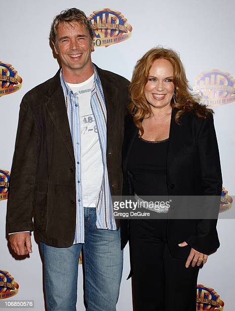 John Schneider and Catherine Bach during Warner Bros Television And Warner Home Video Celebrate 50 Years Of Quality TV Arrivals at Warner Bros Studio...