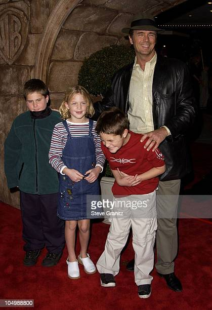 John Schneider and family during 'Harry Potter and The Sorcerer's Stone' Los Angeles Premiere at Mann Village Theatre in Westwood California United...