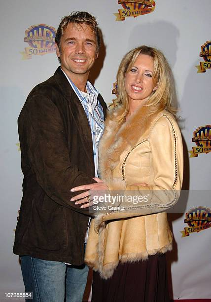 John Schneider and wife Elly Castle during Warner Bros Television And Warner Home Video Celebrate 50 Years Of Quality TV Arrivals at Warner Bros...