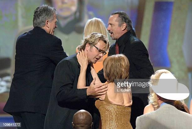 John Schneider presenter and Linda Gray winner of the Pop Culture award for Dallas
