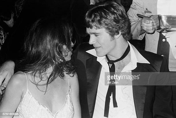 John Schneider with Catherine Bach in conversation circa 1970 New York