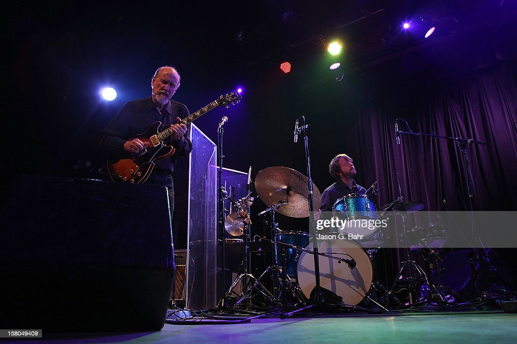 John Scofield (L) and Billy Martin of Madeski Scofield Martin & Wood perform at Ogden Theatre on December 7, 2012 in Denver, Colorado.