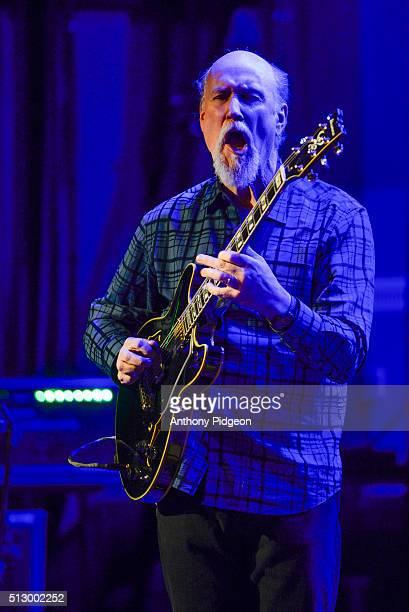 John Scofield of the John Scofield / Joe Lovano Quartet perform onstage at Revolution Hall as part of the PDX Jazz Festival on February 28 2016 in...