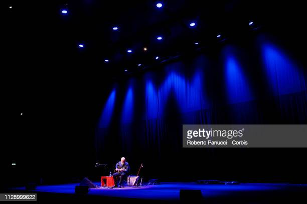John Scofield perform on stage at Auditorium Parco Della Musica on February 11 2019 in Rome Italy