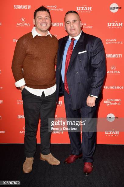 John Scola and Manuel 'Manny' Gomez attend the 'Crime And Punishment' Premiere during the 2018 Sundance Film Festival at The Ray on January 19 2018...
