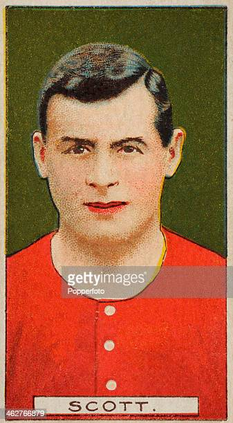 John Scott captain of Blackpool FC featured on a vintage cigarette card published in London circa 1908