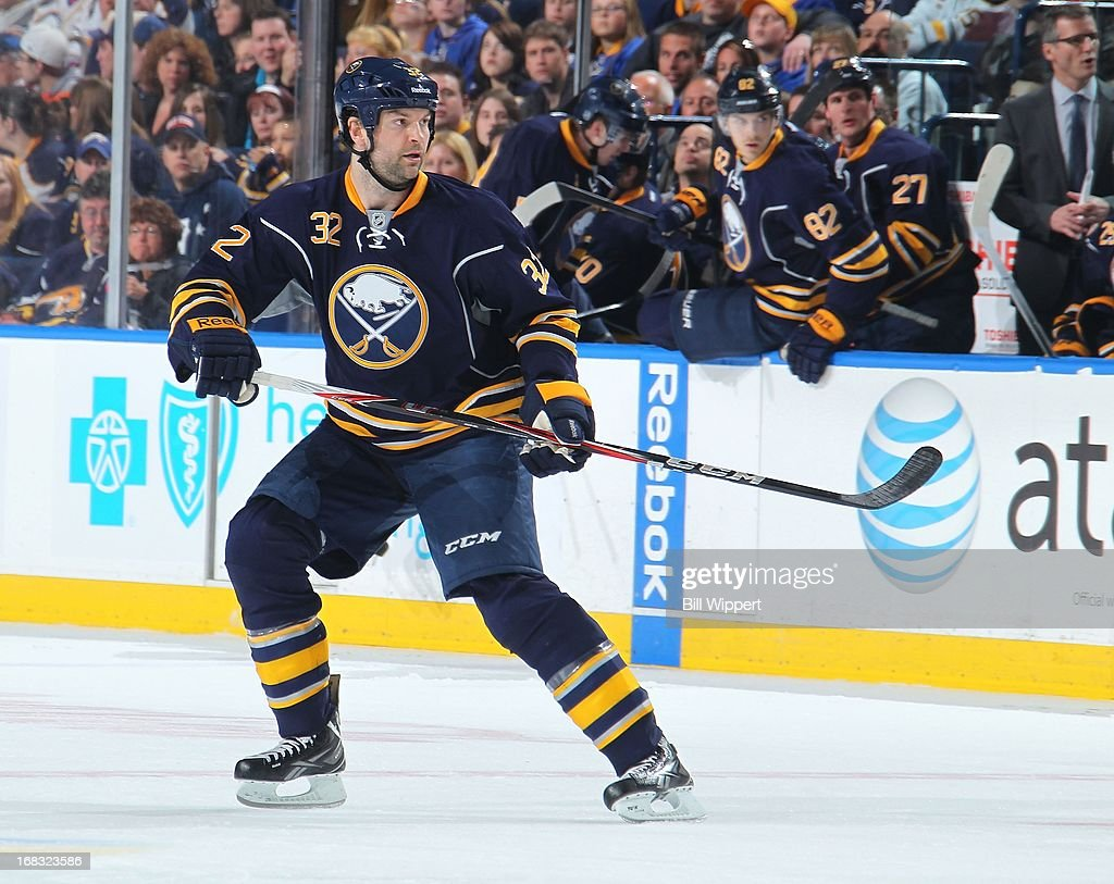 John Scott of the Buffalo Sabres skates against the New York    News