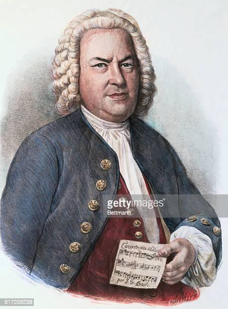 John Sebastian Bach From the lithograph by Schlick after Hausmann