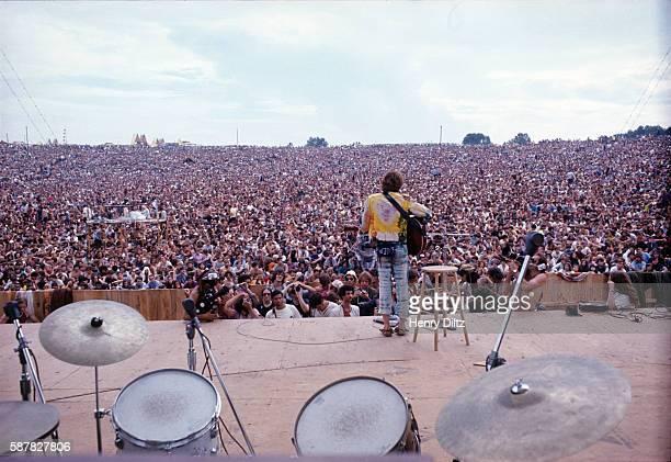 John Sebastian performs at the Woodstock Music Art Fair in Bethel New York on Friday August 15 1969