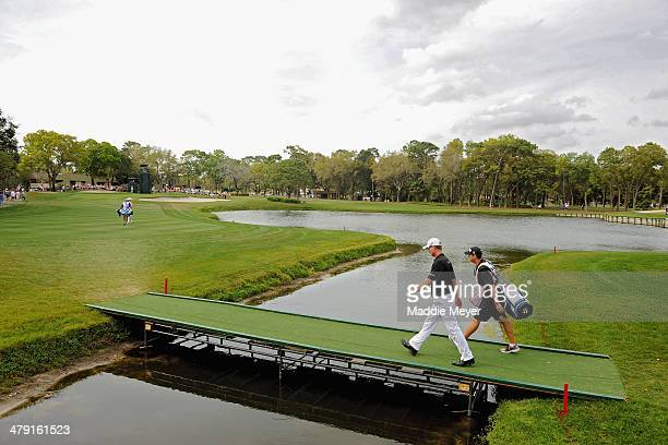 John Senden of Australia walks the 12th fareway during the final round of the Valspar Championship at Innisbrook Resort and Golf Club on March 16...