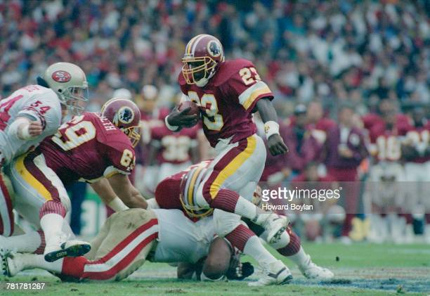 John Settle Running Back for the Washington Redskins during the National Football League American Bowl preseason exhibition game against the San...