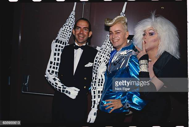 John Sex with friends at Fashion Aid in Manhattan's Palladium nightclub