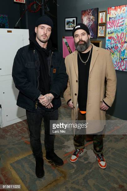 John Seymour and Kyle Martin attend Saks Fifth Avenue And Good Luck Dry Cleaners Launch Underground ArtThemed Speakeasy GLDC@Saks at Level Zero Saks...