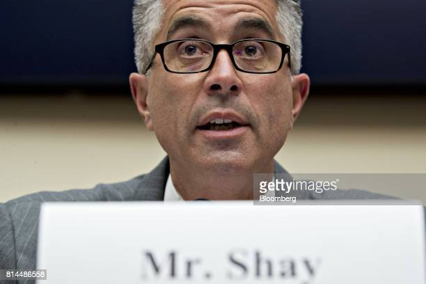 John Shay global head of fixed income and commodities at Nasdaq Inc speaks during a House Financial Services Subcommittee hearing in Washington DC US...