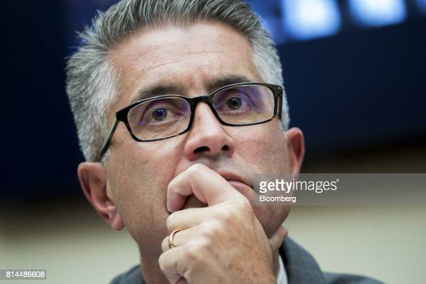John Shay global head of fixed income and commodities at Nasdaq Inc listens during a House Financial Services Subcommittee hearing in Washington DC...
