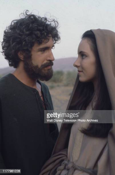 John Shea as Joseph Madeleine Stowe as Mary appearing in the ABC tv movie 'The Nativity'