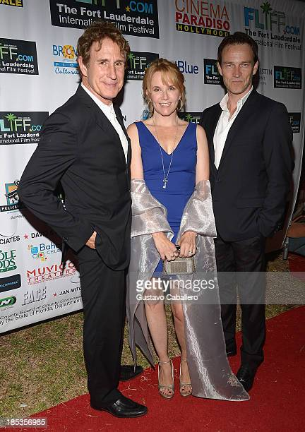 John Shea Lea Thompson and Stephen Moyer attend The 28th Annual Fort Lauderdale International Film Festival Opening Night at Cinema Paradiso on...