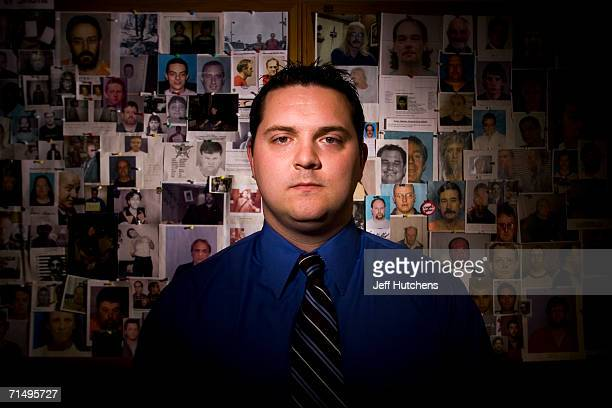 John Shehan Program Manager of the CyberTipline Exploited Child Unit at the National Center for Missing and Exploited Children is photographed in...
