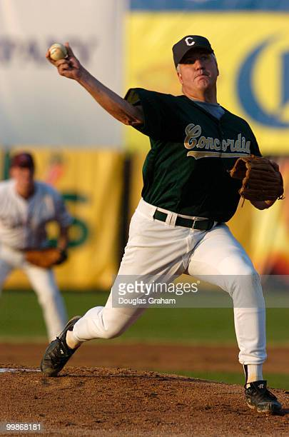 John Shimkus on the mound during the 2004 Congressional Baseball Game