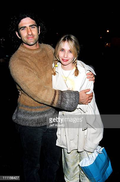 John Sidel and Rosanna Arquette during 1995 MTV Rock the Vote in Los Angeles California United States