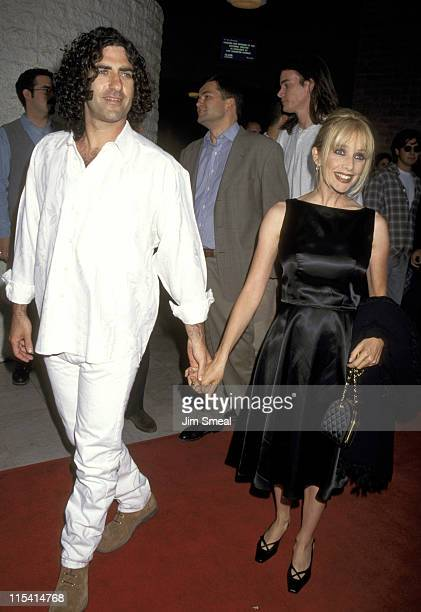 John Sidel and Rosanna Arquette during Desperado Los Angeles Premiere at Mann's National Theater in Westwood California United States