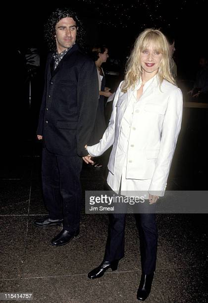 John Sidel and Rosanna Arquette during Premiere of Beyond Rangoon at Directors Guild in Hollywood California United States
