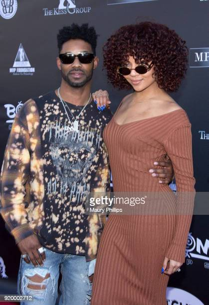 John Silver and Ashley Everett attend Couture Against Cancer hosted by Andre Drummond and Angel Brinks on February 17 2018 in Los Angeles California