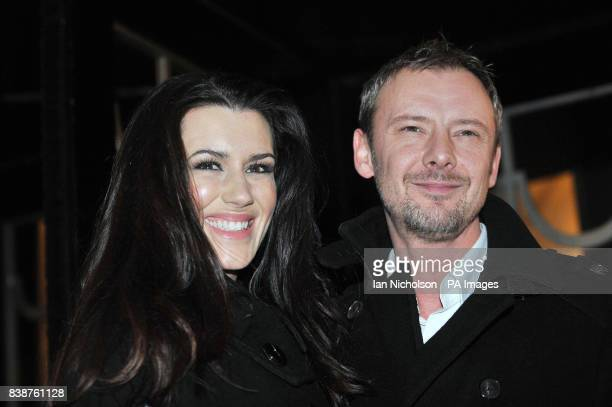 John Simm and Kate Magowan arrive for the Radio Times Covers Party at Claridges Hotel London