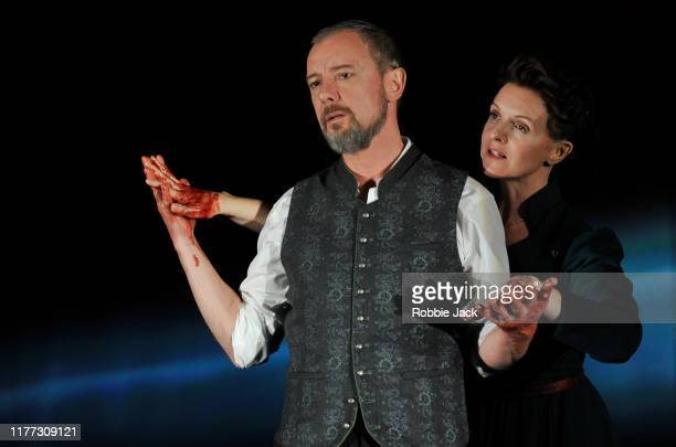 John Simm as Macbeth and Dervla Kirwan as Lady Macbeth in William Shakespeare's Macbeth directed by Paul Miller at Chichester Festival Theatre on...