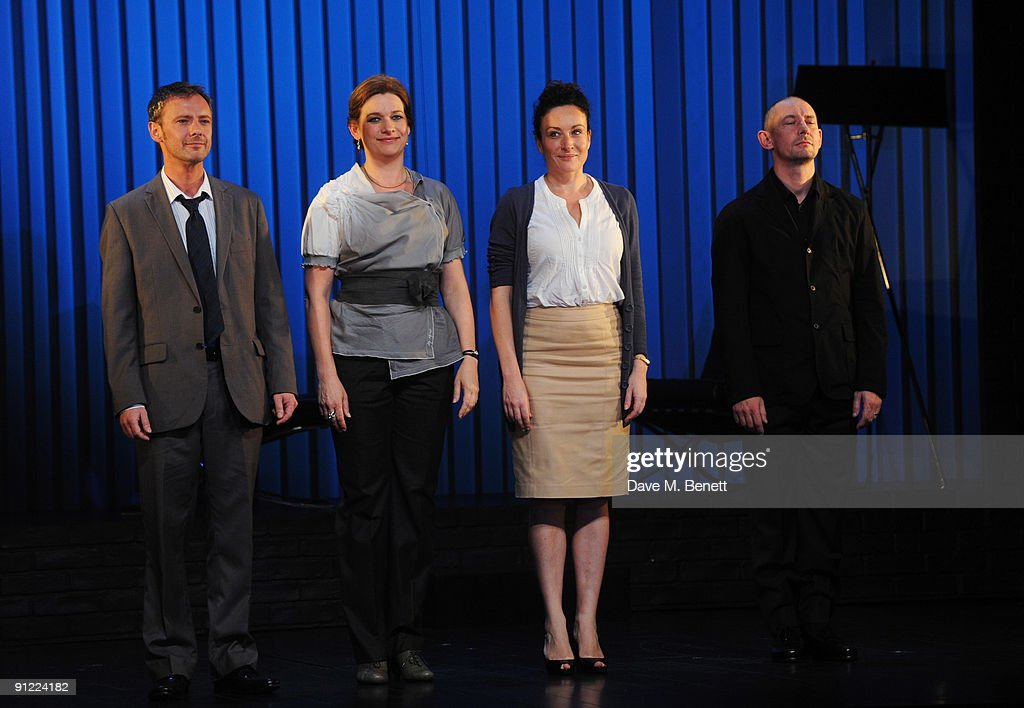 John Simm, Kerry Fox, Lucy Cohu and Ian Hart perform on stage during the press night of 'Speaking In Tongues', at the Duke of York's Theatre on September 28, 2009 in London, England.