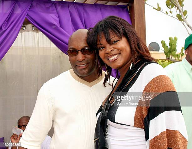 John Singelton and Jacquline Lee of Crown Royal during 2005 MTV VMA John Singelton Party Hosted by DJ Biz Markie and Snoop Dogg at Sanctuary Hotel in...