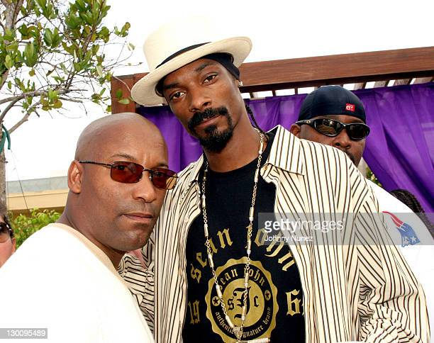 John Singelton and Snoop Dogg during 2005 MTV VMA John Singelton Party Hosted by DJ Biz Markie and Snoop Dogg at Sanctuary Hotel in Miami Florida...