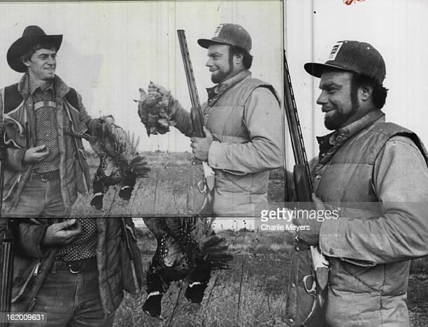 NOV 11 1981 NOV 12 1981 John Singletary and Wally Lattimer compare pheasant and quail taken from riverbottom country