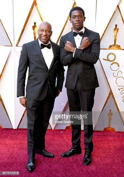 John Singleton and Damson Idris attend the 90th Annual Academy Awards at Hollywood Highland Center on March 4 2018 in Hollywood California