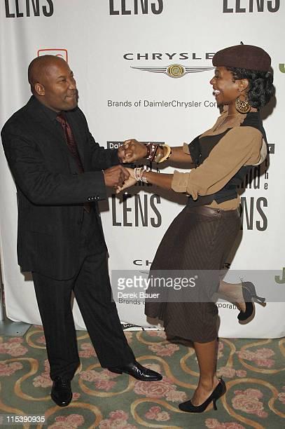 John Singleton and Fatima Robinson during Director John Singleton to Receive the 2005 DaimlerChrysler 'Behind The Lens' Award at Beverly Hills Hotel...