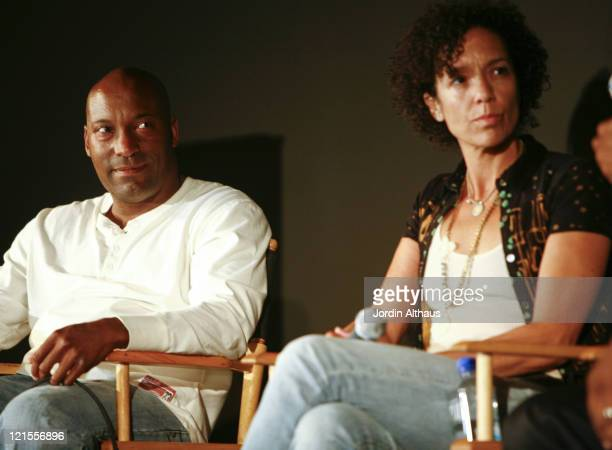 John Singleton and Stephanie Allain during 2007 Los Angeles Film Festival - Paint It Black - AA Film Now at Hammer Museum in Westwood, California,...