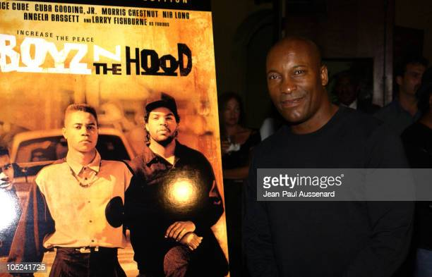 John Singleton during John Singleton Honored with a Star on the Hollywood Walk of Fame After Party in Hollywood California United States