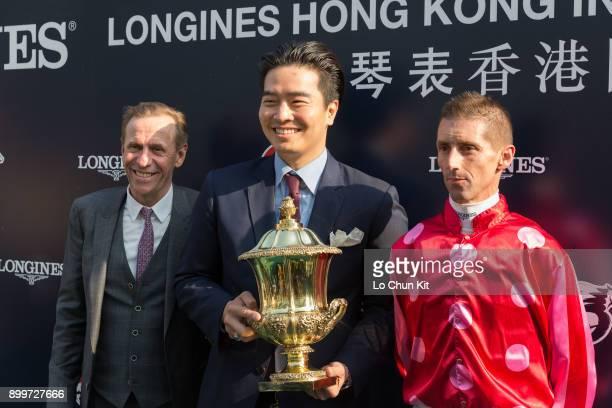 John Sizetrained Mr Stunning under Nash Rawiller wins the LONGINES Hong Kong Sprint at the Sha Tin Racecourse during the LONGINES Hong Kong...