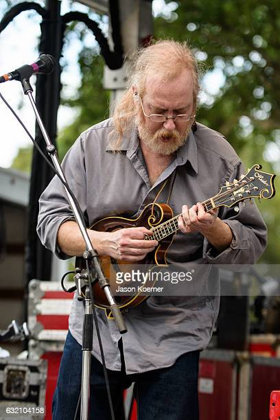 John Skehan of Railroad Earth performs on stage at Mizner Park Amphitheater on January 15 2017 in Boca Raton Florida