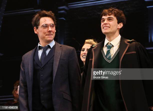 John Skelley and Benjamin Papac during the opening night curtain call for Harry Potter and The Cursed Child Parts One 2 at The Curran Theatre on...