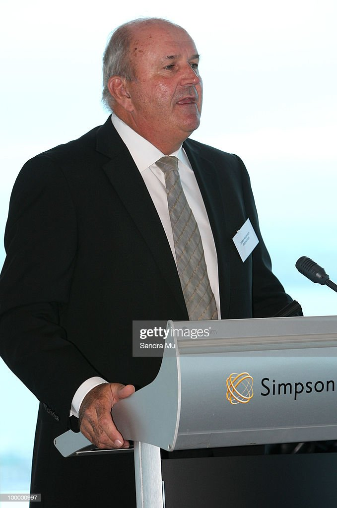 John Skippen, a Director of the Brisco Group addresses the shareholders at the Annual General Meeting on May 20, 2010 in Auckland, New Zealand. The Brisco Group includes Briscoes Homeware, Living & Giving, Urban Loft and Rebel Sport.
