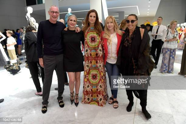 John Skipper Carmen Busquets Livia Firth Evie Evangelou and Donna Karan attend The EcoAge Commonwealth Fashion Exchange US Debut presented by...