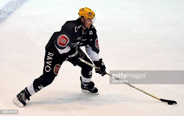 John Slaney of Frankfurt in action during the DEL match between Frankfurt Lions and Straubing Tigers at the Eissporthalle on December 5 2008 in...